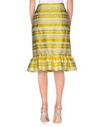 RED Valentino Yellow Knee Length Skirt