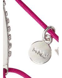 Marc By Marc Jacobs - Letterpress Pink Rope Friendship Bracelet - Lyst
