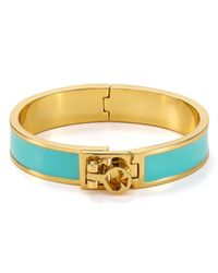 kate spade new york | Blue Bows Spades Thin Turnlock Bangle | Lyst