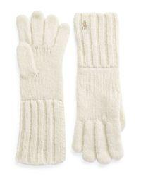 Polo Ralph Lauren | Natural Plush Alpaca Knit Gloves | Lyst