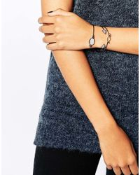 Pieces - Metallic Bianca Multipack Bracelets - Lyst