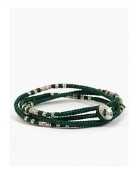 M. Cohen | Green Waxed Cord Four Layer Bracelet for Men | Lyst