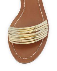 Tory Burch - Metallic Mignon Rings Ankle-Wrap Sandal - Lyst