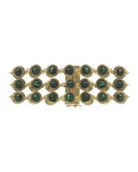 House of Harlow 1960 | Black Cuzco Three Row Station Bracelet | Lyst