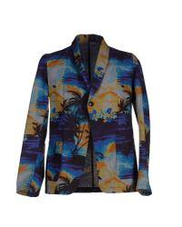 Bevilacqua Blue Blazer for men