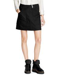COACH Black X Blitz 'workwear' Oversize Pocket Twill Denim Skirt
