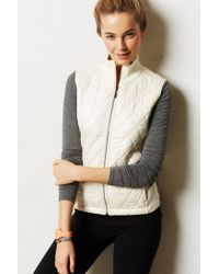 Anthropologie | White Quilted Puffer Vest | Lyst