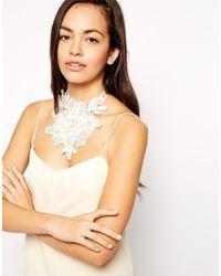 ASOS - White 3D Lace Bib Necklace - Lyst