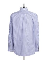 Tommy Bahama Blue Striped Cotton Sportshirt for men
