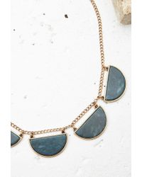 Forever 21 - Green Faux Stone Statement Necklace - Lyst