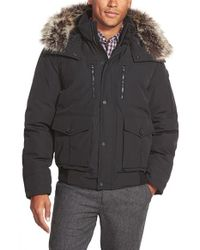 Michael Kors | Blue Hooded Jacket With Faux Fur Trim for Men | Lyst