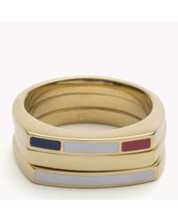 Tommy Hilfiger | Metallic Stackable Ring | Lyst