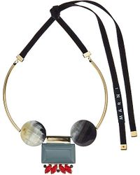 Marni | Multicolor Resin And Gold-toned Necklace | Lyst