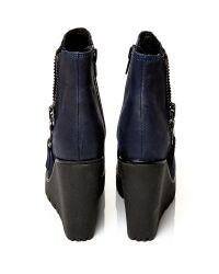 Moda In Pelle Blue Barella High Casual Short Boots