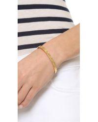 Gorjana - Metallic Kate Zigzag Etch Cuff Bracelet - Gold - Lyst