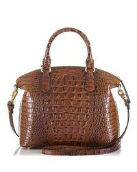Brahmin | Brown Duxbury Embossed Leather Satchel | Lyst