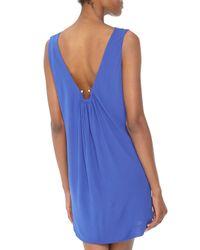 M Missoni Blue Reversible Stretch Jersey Dress Cobalt Medium