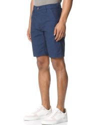 7 For All Mankind - Blue Indigo Shorts for Men - Lyst