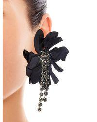 Lanvin - Blue Floral-embellished Earrings - Lyst