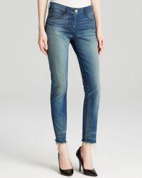 3x1 - Blue Jeans - W2 Mid Rise Crop Skinny Fray In Sea - Lyst