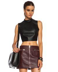 Alexander Wang Black Leather Open Back Haltertop