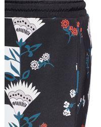 Markus Lupfer Black 'pretty Flower Stripe' Silk Hattie Shorts