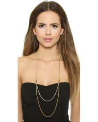 Marc By Marc Jacobs Metallic Draped Bow Tie Necklace - Oro Multi