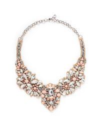 Valentino - Multicolor Satin Back Opal Strass Necklace - Lyst