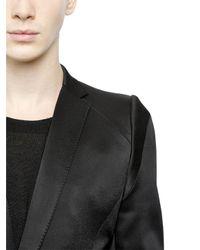 Julius Black Stretch Viscose Wool Blend Jacket for men