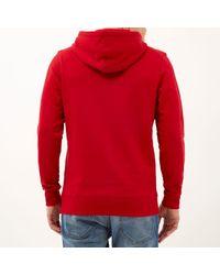 River Island - Red Jack & Jones Vintage Branded Hoodie for Men - Lyst