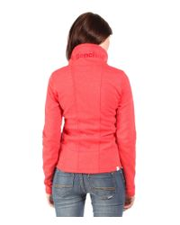 Bench Red Hallrule B Zip Up Sweat Jacket