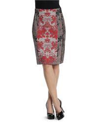 NIC+ZOE Multicolor Faint Foliage Wink Skirt