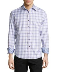 Robert Graham | Purple Eastland Embroidered Plaid Classic-fit Shirt for Men | Lyst
