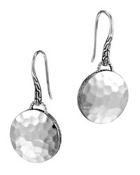 John Hardy | Metallic Palu Silver Round Drop Earrings | Lyst