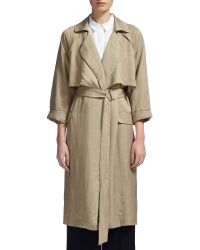 Whistles Natural Laura Soft Trench Coat