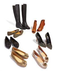 BCBGMAXAZRIA Black Jene Leather Stretch Boot
