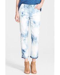 Current/Elliott - Blue 'the Cropped Straight' Ankle Jeans - Lyst
