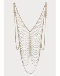 Bebe Metallic Chain Vest Body Jewelry