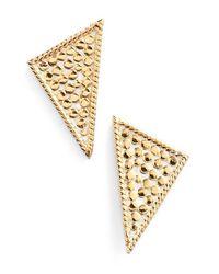 Anna Beck Metallic Triangle Stud Earrings
