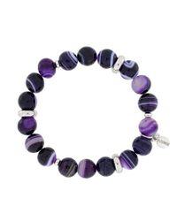 Azendi | Purple Sardonyx Agate Stretch Bracelet | Lyst