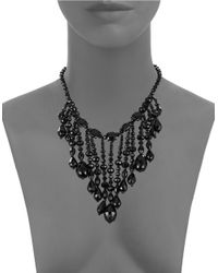 Lauren by Ralph Lauren | Black Graduated Stone Necklace | Lyst
