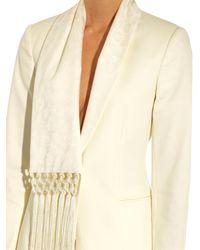 Altuzarra White Suffolk Silk-Fringed Blazer