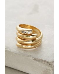 Elizabeth and James - Metallic Pearce Twist Rings - Lyst