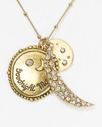 Sequin Metallic Goodnight Moon Necklace 18