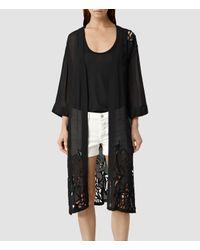 AllSaints | Black Iree Kimono | Lyst