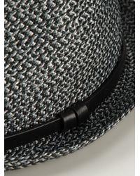 Giorgio Armani | Black Braided Trilby Hat for Men | Lyst