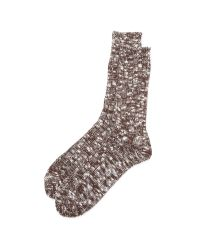 Anonymous Ism | Brown Marled Crew Socks for Men | Lyst