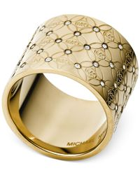 Michael Kors | Metallic Open Barrel Ring | Lyst