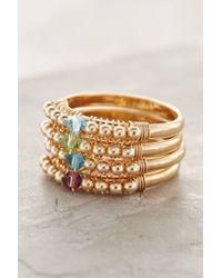 Anthropologie | White Birthstone Stacking Ring | Lyst