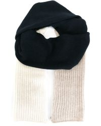 Chinti & Parker - Blue Color Block Ribbed Scarf - Lyst